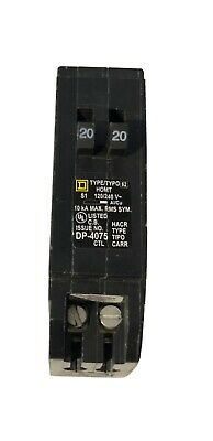 Square D Homeline 20 Amp Twin 1 Pole Tandem Circuit Breaker Homt2020