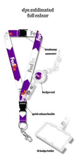 Fedex Logo Lanyard + Badge Reel