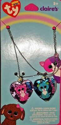 Ty Beanie Boos Best Friends Lockets set of 2 - Leona & Glamour - NEW - FREE