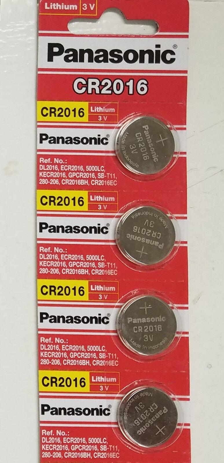 Купить 4 NEW PANASONIC CR2016 ECR 2016 Batteries 3V Exp.2025