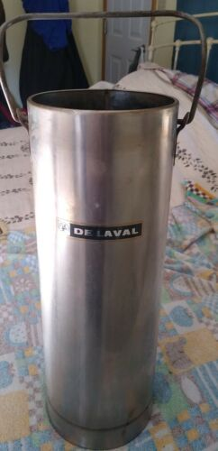 RARE Vintage DE LAVAL STAINLESS STEEL CREAM, MILK, CYLINDER CAN