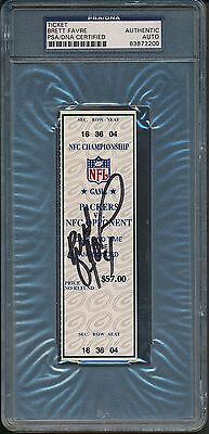 Brett Favre Signed NFC Champ Ticket PSA/DNA Certified Authentic Auto *2200