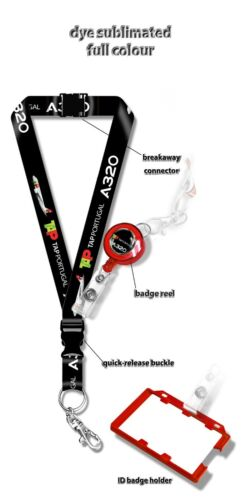 TAP Air Portugal A320 Dye Sublimation Lanyard Set