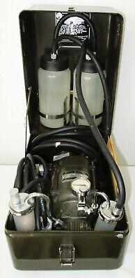 Portable Suction Pressure Vacuum Pump Aspirator Accessories In Sturdy Case