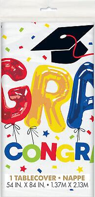 Graduación Mantel de Plástico Brillante Y Colorido Graduación Vajilla Fiesta