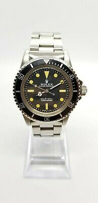 1980s Vintage Rolex Submariner 5513 Stainless Steel 17 Jewel 1520 movement 40mm