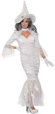 White Witch Fancy Dress (Women's Sexy Spellweaver Halloween Costume Fancy Dress White Good Witch)