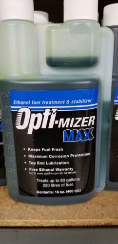 Opti-Mizer MAX 16oz Ethanol Fuel Treatment Stabilizer Treats 60 Gal. 61612