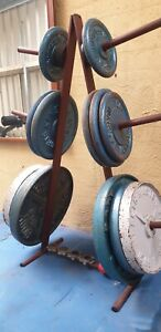 175kgs of weight plates plus stand