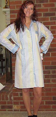 Carole Hochman Nightshirt—women's Stripes And Print- Very...