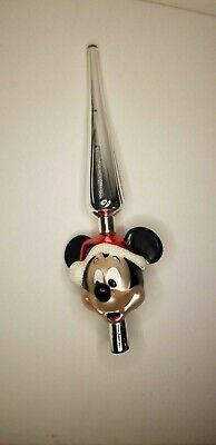 Disney Parks Vintage Holiday Mickey Mouse Christmas Tree Topper READ