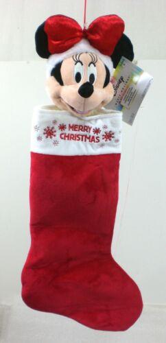 "Disney Big Head 3D  21"" Minnie Mouse Merry Christmas Stocking #2127449"