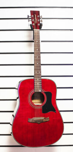Tanglewood TW28 Acoustic Dreadnought Guitar Spruce Top 6 Steel Strings Red - Z00
