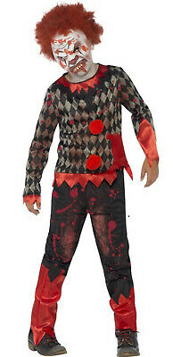Zombie Monster Scary Clown Boys Kids Childs Halloween Fancy Dress Costume 4-12 - Scary Clown Halloween Costumes For Boys