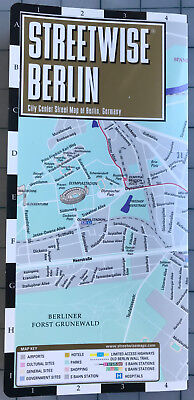 NEW Streetwise Berlin city center map laminated - 2014