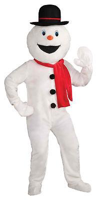 Schneemann Maskottchen Erwachsene Kostüm Weiß Overall - Weihnachtsmann Maskottchen Kostüme