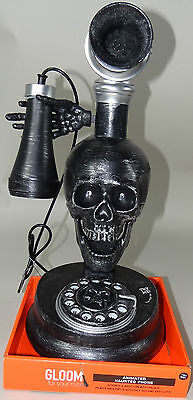 Haunted Skeleton Halloween Phone Animated Prop Sound Lights Victorian Style New