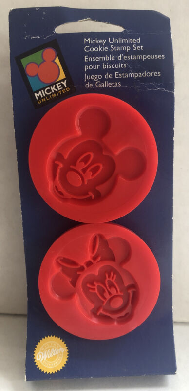 Wilton Mickey Unlimited Mickey & Minnie Mouse Cookie Stamp Set NEW