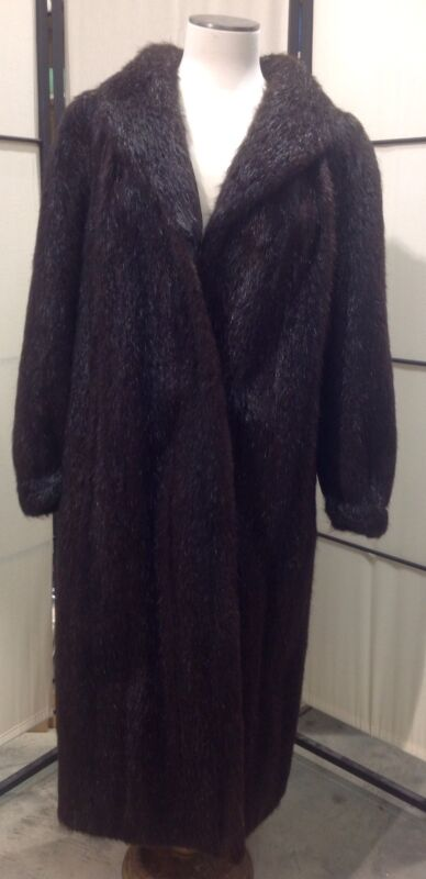 RANCH MINK COAT - Vintage Full Length - Dark Brown - FREE SHIPPING!