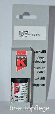 Lackstift AUTO K,MERCEDES NACHTSCHWARZ 696 1-Schicht-Lack,Pinsel,9ml, NEU,KWASNY
