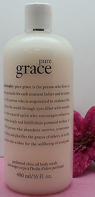 PHILOSOPHY PURE GRACE PERFUMED OLIVE OIL BODY SCRUB 16 OZ LOW PRICE NEW