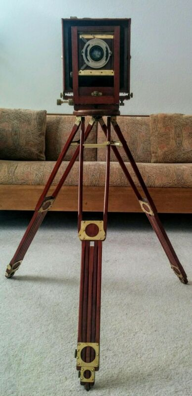 5X7 RAIL VIEW CAMERA (c. 1902) with BAUSCH & LOMB/ZEISS LENS