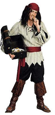 m Herren Seeräuber Freibeuter Piratenkostüm Lumpen Stulpen (Lumpen-kostüm)