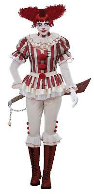 Sadistic Clown Pennywise IT Woman's Halloween Costume Size Medium 8-10