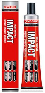 evo stik impact adhesives glue evo stik impact instant contact adhesive 65g tube of multi purpose glue