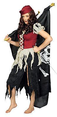 Pirat Piraten Kostüm Kleid Damen Seeräuber Freibeuter Piratenkostüm Piratin