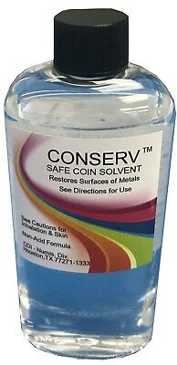 Conserv Safe Coin Cleaning Solvent Remove Impurities Tarnish Luster Restore 4 Oz