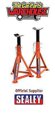Sealey Tools AS2500 ~ 2.5 Ton Each ~ 5 Ton Pair Axle Stands 505mm High Car / Van