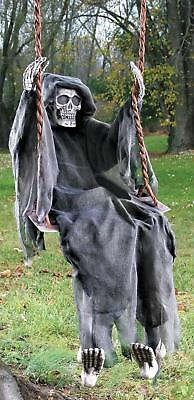 LIFE SIZE 5 FT HANGING Swinging Skeleton Dead OUTDOOR HALLOWEEN DECOR PROP HAUNT - Life Size Skeleton Halloween
