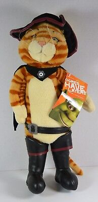 "Puss in Boots Posable Cat Shrek 2 Bendable Legs Arms 17"" tall by Beverly Hills"