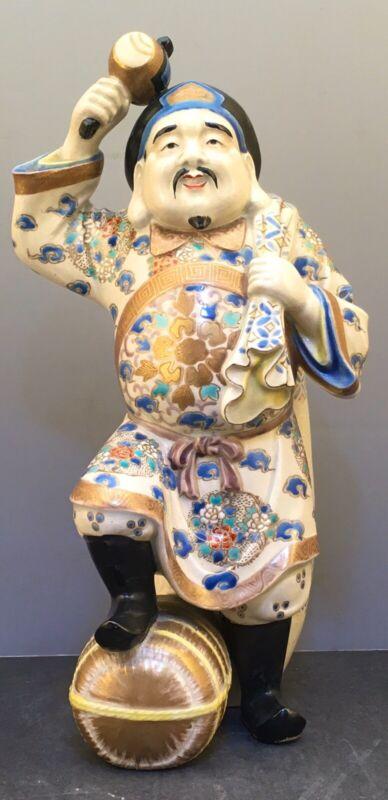 Large Japanese Meiji Okimono - Daikoku with Hammer & Bag