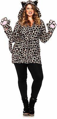 Plus Size Cozy Leopard Costume Size 1X-2X (16/20)  Leg Avenue