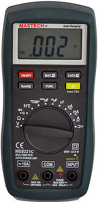 New Mastech Ms8221c Ac Dc Voltage Temperture Auto Range Digital Multimeter Dmm