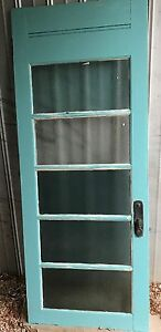 Wooden Door with Glas panels  - pickup only Buronga Murray-Darling Area Preview