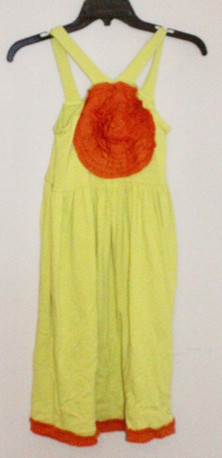 Sam And Sydney Size 10 Girls Green/ Orange Flower Dress Floral Boutique NWT