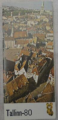 Tallinn City map 1980 Olympic Game memorial stamp (Memorial City Map)