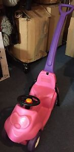 Pink step  PUSH car ride on handle belt baby toddler TOY CAR Kaleen Belconnen Area Preview