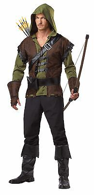 Men's Story Book Robin Hood Halloween Costume Set Vest Shirt Belt Boot Cover