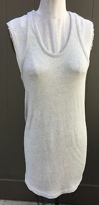 T by Alexander Wang Sz S French Terry Tank Dress Terrycloth Racerback