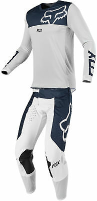 Fox Racing Mens Navy Blue/White Airline Dirt Bike Jersey & Pants Kit Combo -