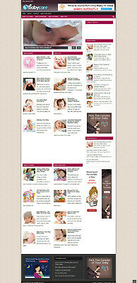 Baby Health Affiliate Website With Free Domain Hosting - Home Business