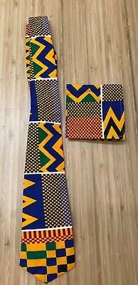 African  Kente print  cloth pattern cotton Ankara Men Necktie Neck Tie (Men's Ankara Styles)