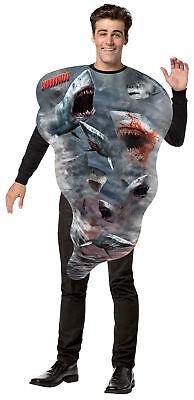 Sharknado Get Real Adult Costume Photo Printed Tunic Halloween Rasta Imposta (Sharknado Costume)