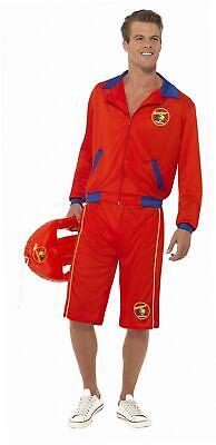 Smiffys, Herren Baywatch Strand Rettungsschwimmer Kostüm, Jacke und Lange...