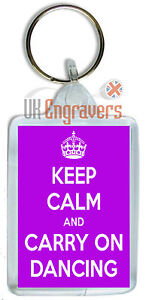 KEEP-CALM-AND-CARRY-ON-DANCING-KEYRING-BAG-TAG-BIRTHDAY-NOVELTY-PARTY-GIFT