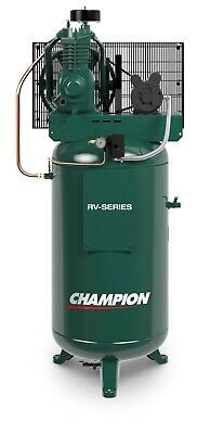 Champion 5hp Single Phase 2 Stage Air Compressor Vrv5-8 80 Gallon